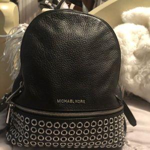 Michael Kors Bags - MICHAEL KORS BLACK DESIGN MEDIUM BACKPACK!!! Cheap